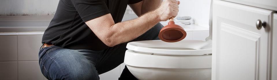 toilet wordt ontstopt